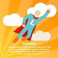 Cartaz de super-herói de liderança vetor