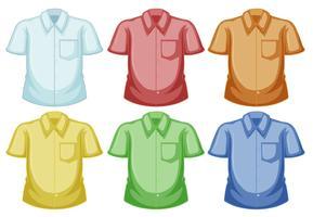 Modelos de camisa em cores diferentes vetor