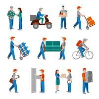 Entrega, ícones, apartamento