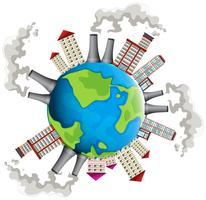 Área industrial em todo o mundo vetor