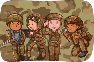Soldados vetor