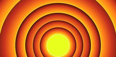 Fundo de círculos abstratos dos desenhos animados