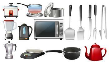 Utencils de cozinha e dispositivos eletrônicos