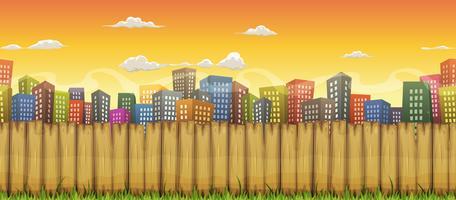 Fundo de paisagem de cidade sem emenda