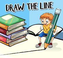 Frase em cartaz para desenhar a linha vetor