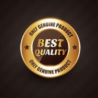 melhor qualidade premium rótulo crachá com design de produtos genuínos vetor