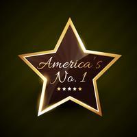 américa número um no.1 rótulo de vetor