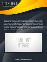 design de brochura elegante vetor