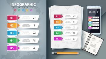 Infográfico de negócios. Maquete para sua ideia. vetor