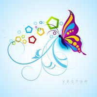 fundo artístico de borboleta vetor