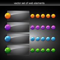 elementos da web de vetor