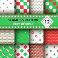 Forma simples de cor, padrão de feliz Natal. vetor