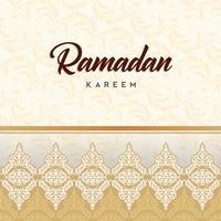 Cartão de Ramadã Kareem e fundo islâmico com padrão árabe vetor