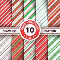Linha doce listrado padrão de feliz Natal. vetor