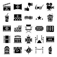 Pacote de ícones do cinema vetor