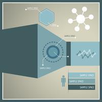 ilustração de infográfico moderno vetor
