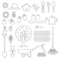 Selos digitais de jardinagem Clipart
