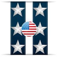bandeira americana vetor