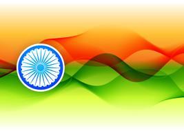 design de bandeira indiana feita no estilo de onda vetor