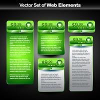 banner de exibição na web vetor