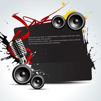 fundo de música de vetor