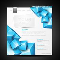 modelo de página da web vetor