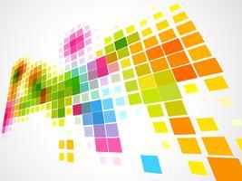 fundo de onda de mosaico colorido