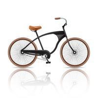 Bicicleta realista isolada vetor