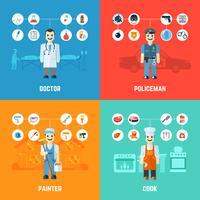 Conceito de design de profissão