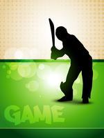 jogo de críquete vetor