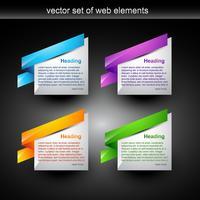 elemento da web vetor