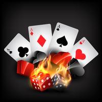 formas de cartão de casino vetor