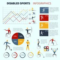 Infográficos de esportes com deficiência vetor