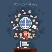 Cartaz de conceito de transporte logístico
