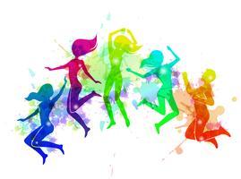 Ilustração de pessoas pulando