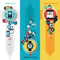 Banners de tecnologia wearable verticais