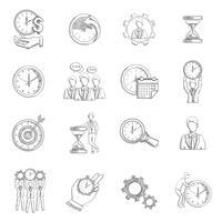 Esboço de gerenciamento de tempo vetor