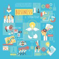 Cartaz de elementos do negócio conceito infográfico vetor