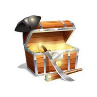 Ilustração de baú de tesouro de pirata