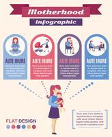 Conjunto de infográficos de maternidade vetor
