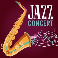 Poster de jazz com saxofone