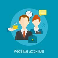 Ícone de assistente pessoal vetor