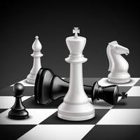 Jogo de xadrez realista vetor