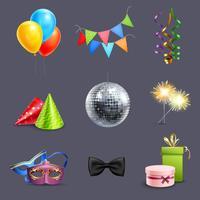 ícones de celebração realista