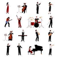 Conjunto de ícones de músicos