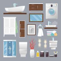 Móveis de casa de banho vetor