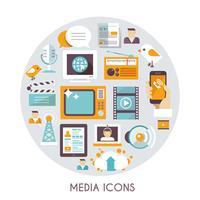 Conceito de mídia de massa