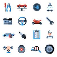 Ícones de reparação de automóveis