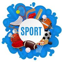 Conceito de equipamento de esporte