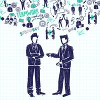 Reunião, pessoas, ilustração
